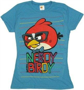 Angry Birds Nerdy Birdy Baby Doll Tee