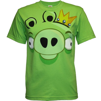 King Pig Angry Birds Face T-Shirt