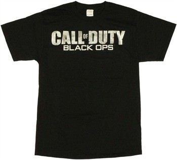 Call of Duty Black Ops Textured Logo T-Shirt