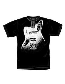 Nirvana Band Name Guitar Men's T-Shirt