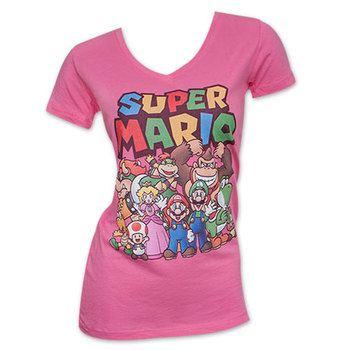 Nintendo Super Mario Women's Tee Shirt