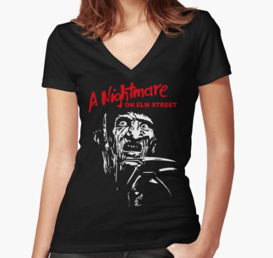 Freddy Krueger Women's Fitted V-Neck T-Shirt by losfutbolko T-Shirt