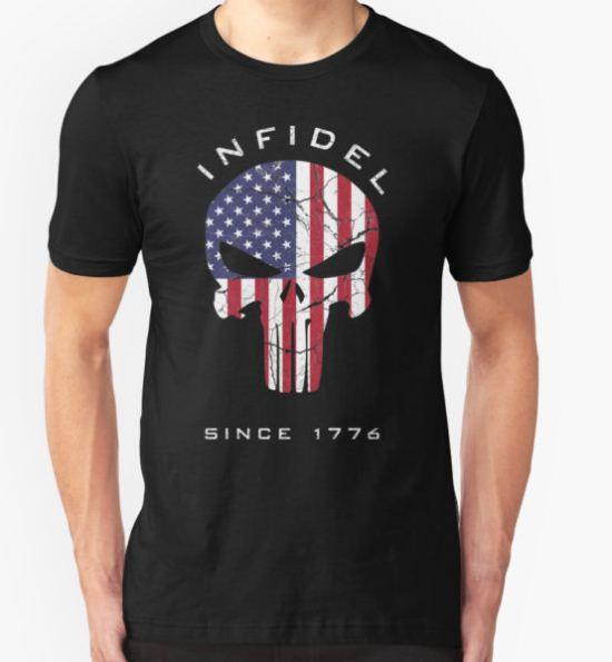 American Punisher - Infidel T-Shirt by zingarostudios T-Shirt