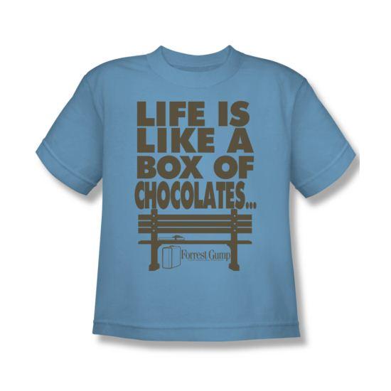 Forrest Gump Shirt Kids Life Carolina Blue Youth Tee T-Shirt