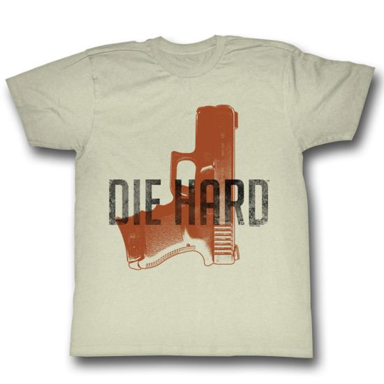 Die Hard Shirt Gun Adult Natural Tee T-Shirt