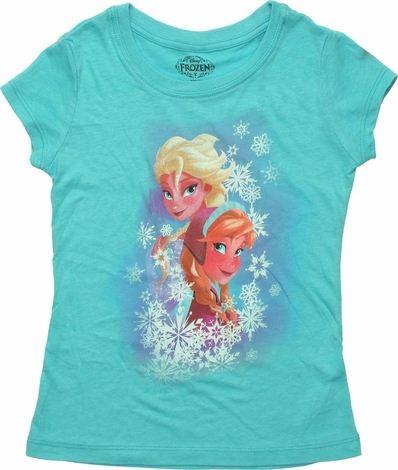 Frozen Snow Sisters Juvenile T Shirt