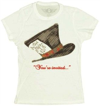 Alice in Wonderland Mad Hatter You're Invited Baby Doll Tee