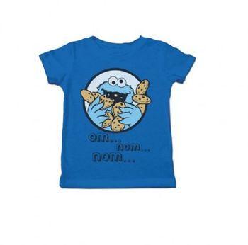 Sesame Street Cookie Monster Om Nom Nom Toddlers Royal Blue T-Shirt