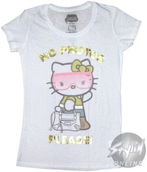 Hello Kitty No Photos Please Baby Doll Tee by MIGHTY FINE