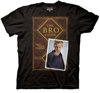 How I Met Your Mother Bro Code Book Cover Black Mens T-shirt