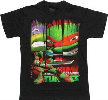 Teenage Mutant Ninja Turtles Leonardo Pose with Banners Youth T-Shirt