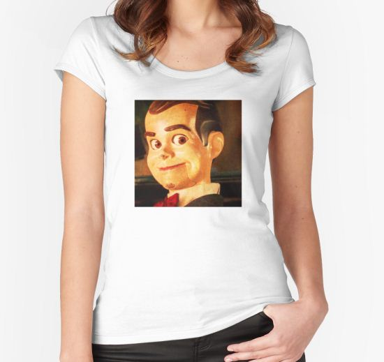 'slappy' Women's Fitted Scoop T-Shirt by hiddickington T-Shirt