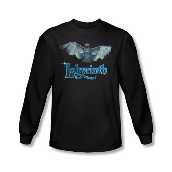 Labyrinth Shirt Title Sequence Long Sleeve Black Tee T-Shirt