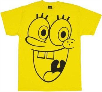 Spongebob Squarepants Outline Face T-Shirt