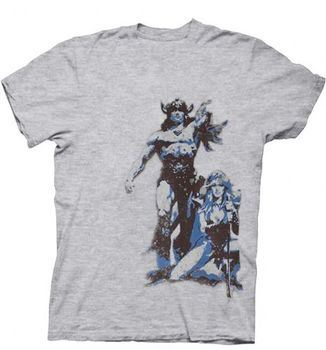Conan the Barbarian Poster Cut-Out Heather Gray T-shirt