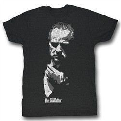 The Godfather Shirt Godfather Shadow Adult Black Tee T-Shirt