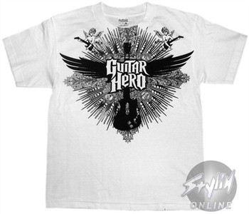 Guitar Hero Guitar White Youth T-Shirt