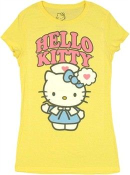 Hello Kitty Nurse Heart Baby Doll Tee