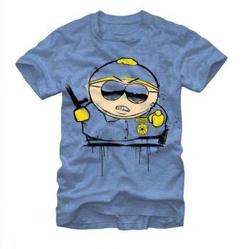 South Park Cartman's Respect Adult Light Heather Blue T-Shirt