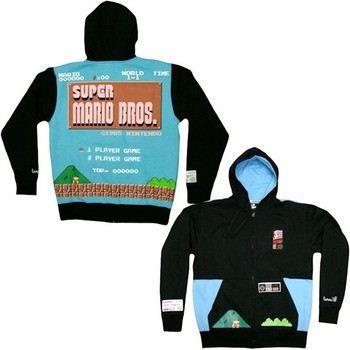 Nintendo Super Mario Bros Game Screen Limited Edition Torrel Full Zipper Hooded Sweatshirt