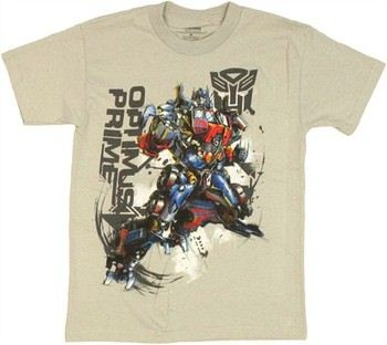 Transformers Optimus Prime Graphic Leap Youth T-Shirt