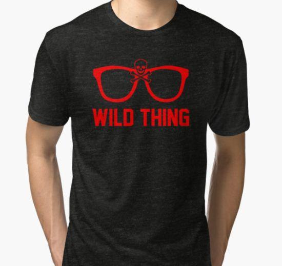 Wild Thing - For The Major League Indians Fan! Tri-blend T-Shirt by geekingoutfitte T-Shirt