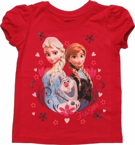 Frozen Trio Flowers Toddler T Shirt