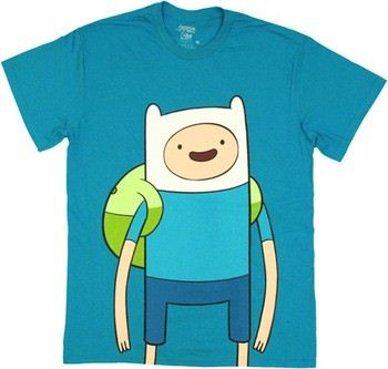 Adventure Time with Finn and Jake Large Finn T-Shirt