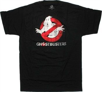 Ghostbusters Logo With Text T-Shirt Sheer