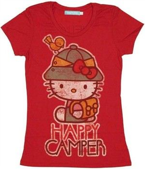 Hello Kitty Happy Camper Baby Doll Tee by MIGHTY FINE