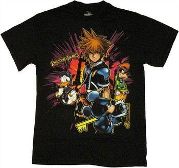 Kingdom Hearts Group Shot Color Burst T-Shirt