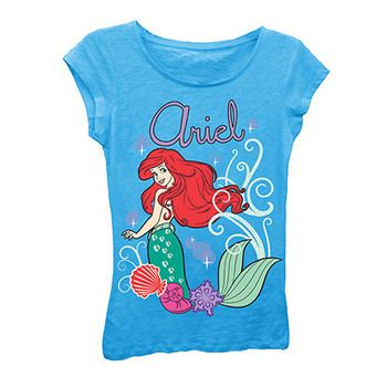 2c83211f634fcc ... Disney The Little Mermaid Girls 7-16 Light Blue Ariel Tee Shirt