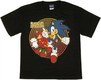 Sonic the Hedgehog Sonic Knuckles Circles Youth T-Shirt