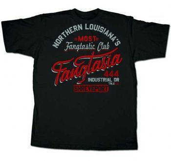 True Blood Northern Louisiana's Fangtastic Fangtasia Black Mens T-Shirt