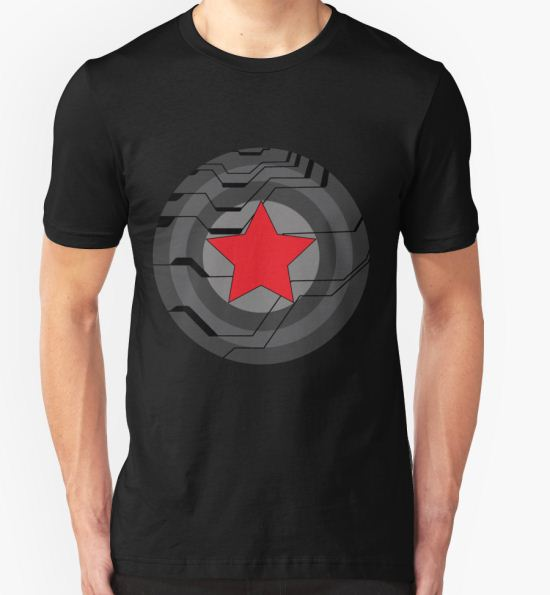 'Winter Soldier Shield' T-Shirt by CheekySherwin T-Shirt