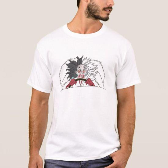 101 Dalmations' Cruella de Vil Angry Disney T-Shirt