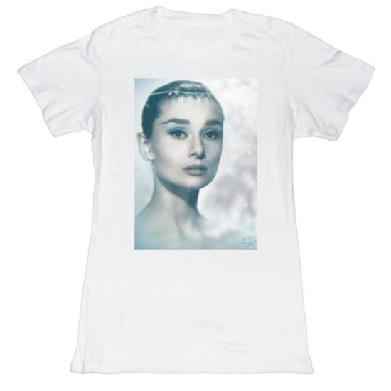 Audrey Hepburn Shirt Juniors So Icy White T-Shirt