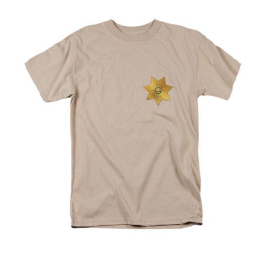 Eureka Shirt Badge Sand T-Shirt