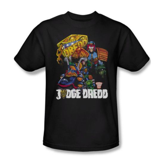 Judge Dredd Shirt Bike Black T-Shirt