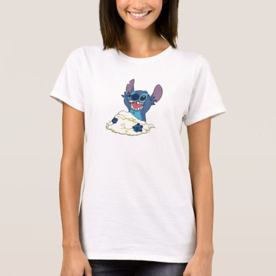 Stich Playing in Sand Disney T-Shirt