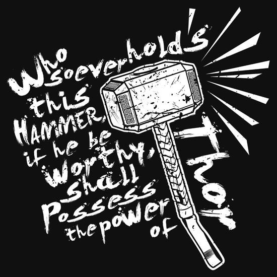 The Power of Thor by Matt Fontaine T-Shirt