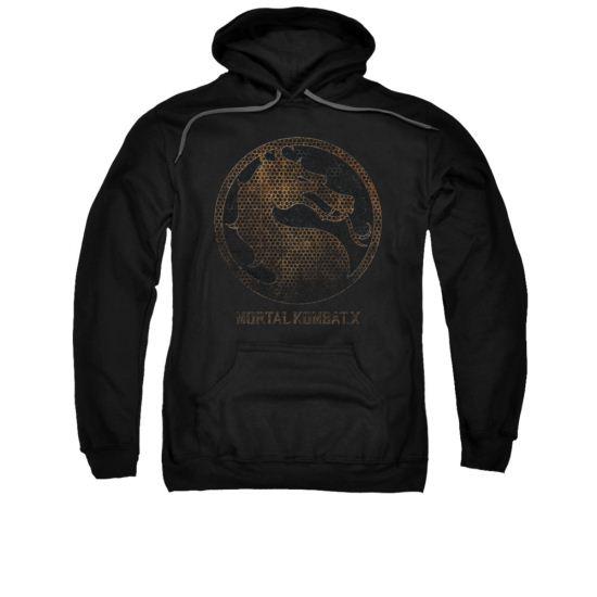Mortal Kombat Hoodie Metal Logo Black Sweatshirt Hoody