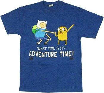 Adventure Time Finn Jake What Time is It Standing Fist Dap T-Shirt