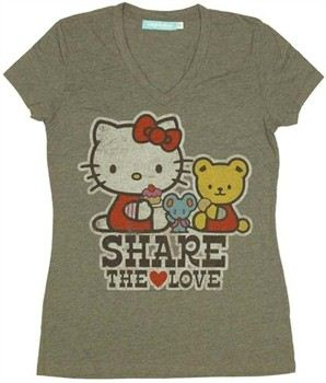 Hello Kitty Share the Love Baby Doll Tee by MIGHTY FINE