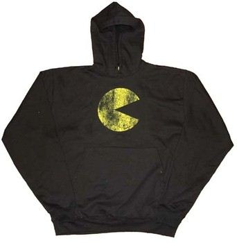 Pac-Man Distressed Black Hooded Sweatshirt