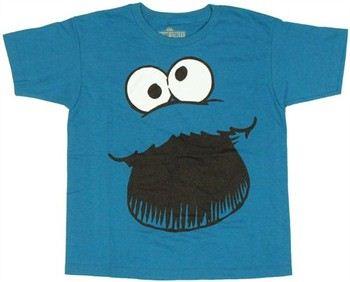 Sesame Street Cookie Monster Face Kids T-Shirt