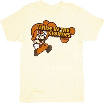 Nintendo Super Mario Made in the Eighties 80's Cream Adult T-shirt
