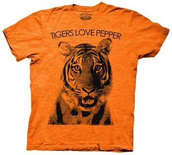 The Hangover Tigers Love Pepper Orange Adult T-shirt