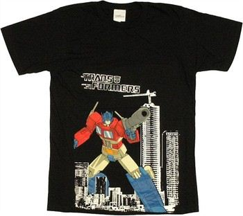 Transformers Optimus Prime City Foil T-Shirt Sheer