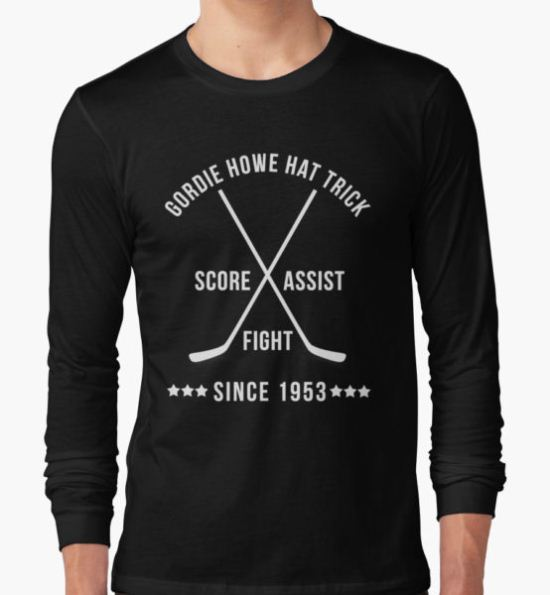 Gordie Howe Hat Trick T-Shirt by omniagraphics T-Shirt
